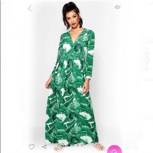 Boohoo Banana Leaf Maxi